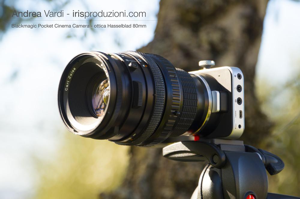 ottica Hasselblad Sonnar su BMPCC M4T
